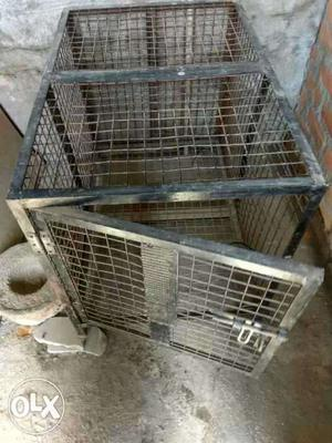 Pets cage broad gauged iron made with door