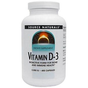 SOURCE NATURALS Vitamin D- IU Capsule, 400 Count