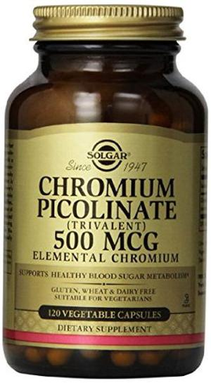 Solgar - Chromium Picolinate 500 mcg Vegetable Capsules 60