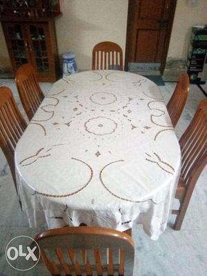 6 Seater Burmese Teak (Saguan) Wood Dining Table