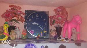 Ajanta antique designer wall clock with dual tone