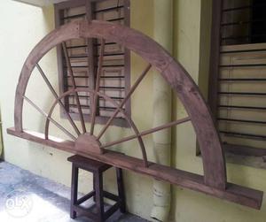 Antique burma teak wood arch window.