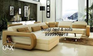 Brand new U shape sofa set with L diwan