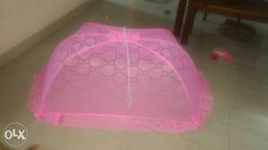 Pink mosquito net for babies...wide enough for