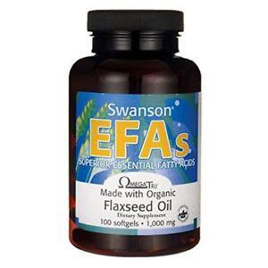 Swanson Flaxseed Oil (Omegatru)  mg 100 Sgels