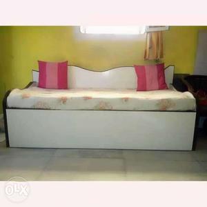 Teak wood sofa 4 by 6 feet with elegant sunmica