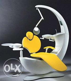 White And Yellow Dental Chair