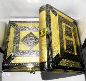 2 Antique style dry fruit/jewellery boxes
