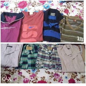 4 old t shirts 4 shirts 2 tshirt full sleeves 2