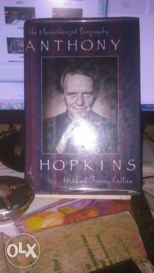 Hard-bound biography of Anthony Hopkins with illustrations