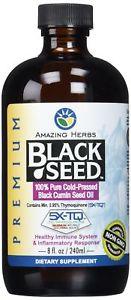 Amazing Herbs Premium Black Seed Oil, 8 Fluid Ounce(Packagin