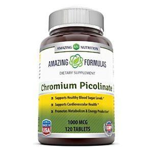Amazing Nutrition Chromium Picolinate  Mcg 120 Tabs