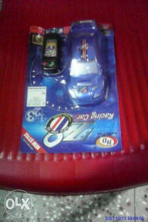 Blue Racing Car RC Toy