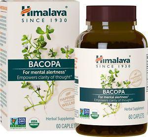 Himalaya Organic Bacopa/Brahmi, 60 Caplets for Mental