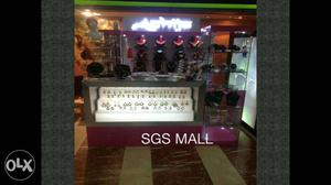 Jewellery shop furniture for sale. It was a