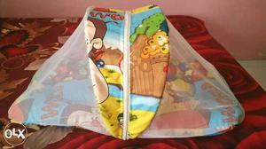 Toddler Mattress with Mosquito Net for Baby