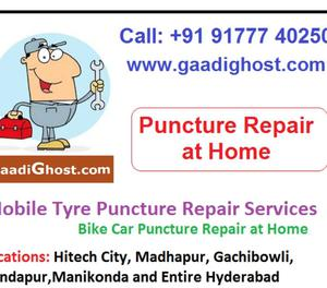 Mobile Bike Car Tyre Puncture Services in Hitech City