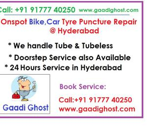 Onspot Car Bike Tire Puncture Repair Services in Hitech City