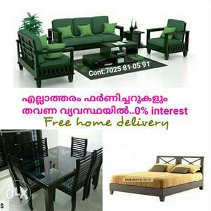 Premium quality fresh sofa set on EMI scheme Free