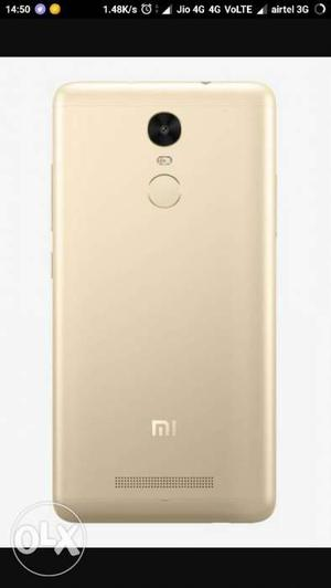 REDMI NOTE 3 in gold colour One year old 2 GB ram