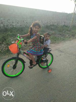 Toddler's Green Bike With Training Wheels imported