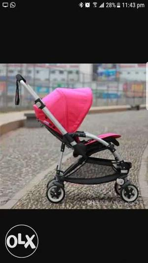Baby's Pink And Black Umbrella Stroller Screenshot