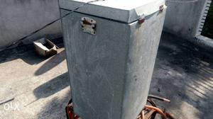 Gray Steel Storage Bin