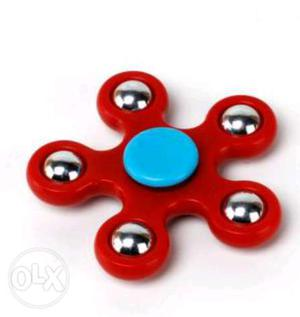 Red And Blue 5-blade Fidget Spinner
