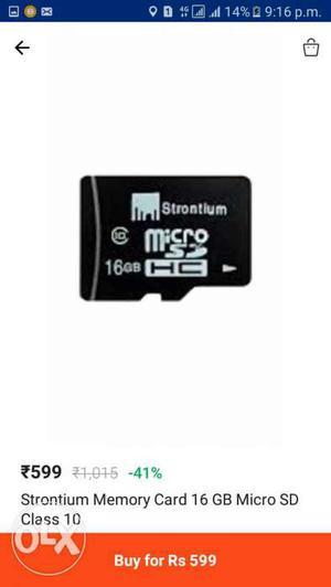 16 Gb Memory Card Sealed Paked Unuse