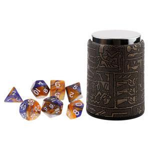 7pcs Polyhedral Dice D20 D12 D10 D8 D6 D4 for Dungeons &