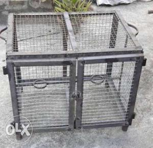 Homemade iron cage for sale in good condition