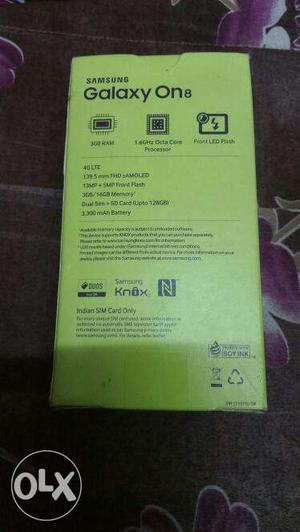 Light used samsung galaxy on8 available with full box kit
