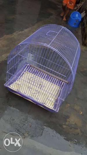 Medium Size Purple Steel Birdcage