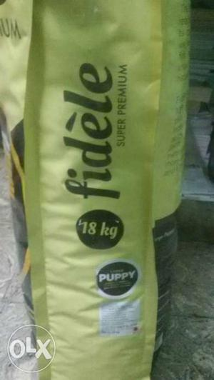 New Fidele Dog Food Bag 18kgs Available For Sale