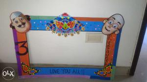 Birthday frame for kids.can be customised.have