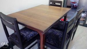 8 Dining Table Chairs Made Of Eetti Wood If Posot Class