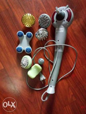 Gray And Red Facial Cleansing Brush