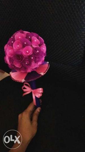 Pink Artificial Rose Flowers Bouquet