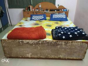 Urjent Sale 6*6 bed With Storage and 6*6 Mattress In Good