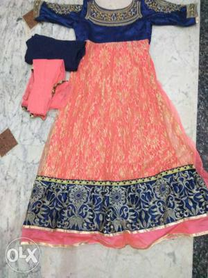 A long ethnic party wear kurti for girls and
