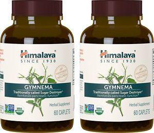 Himalaya Organic Gymnema Sylvestre 60 Caplets for Sugar