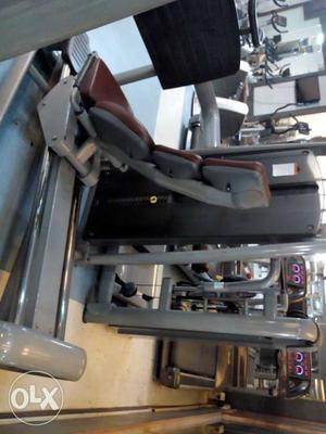 Leg press machine, glutes machine and triceps