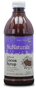 NuNaturals NuStevia Cocoa Syrup Rich Chocolate Syrup Taste