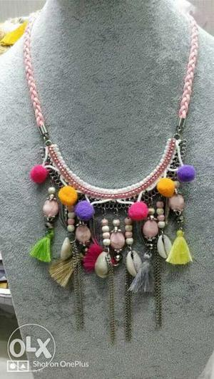 Pompom Necklace Enriched with new designs New