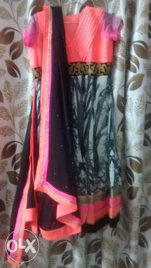 This is a brand new dress fits upto 40 inches. As