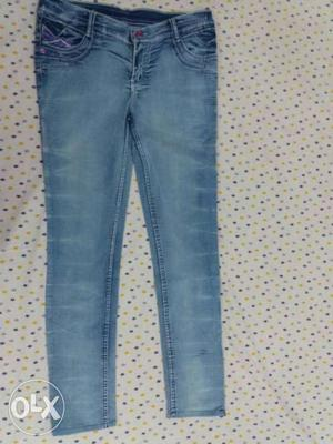 New sky blue jeans for women with waist size 32