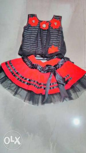 Girls beautiful party wear skirt and top set for