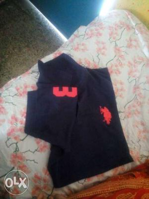 Navy Blue And Red USPA Polo Shirt XL New Brand Shirt Without