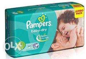 Pampers Diapers Large (pack of  kgs