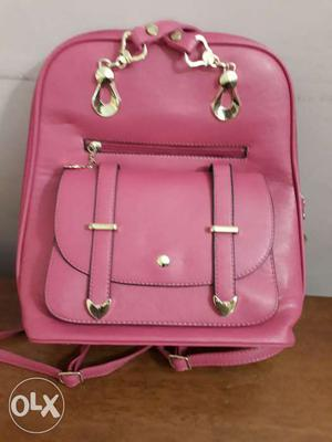 Pink colour new bag for girls. Never used, with